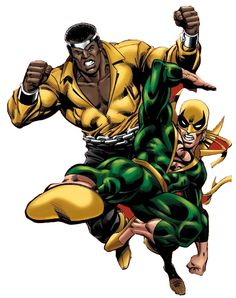 Luke Cage & Iron Fist by Kerry Gammill
