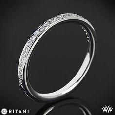 18k Rose Gold Ritani 92378ARP Pave Diamond Wedding Ring