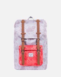 Herschel Supply Co. Backpack MOCHILA LITTLE AMERICA MID VOLUME - Grey/Red/Tan #accesorios #mochila #ss15 #herschelsupply #littleamerica #backpack