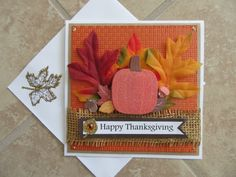 HAPPY THANKSGIVING Fall Cards by PatsPaperCrafts on Etsy