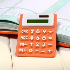 Portable Foldable Silicone Mini 8 Digital Calculator Solar Energy Multi Color…
