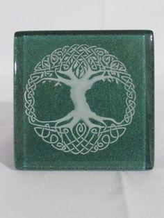 """Celtic Tree of Life Trivet / Coaster / Tile 4"""" X 4"""" X 3/8"""" thick"""