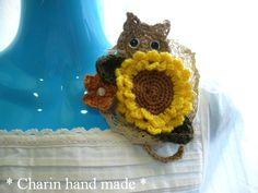 他の写真1: * Charin Hand made *ねこちゃんとひまわりのコサージュ