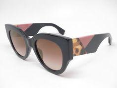 beb7a06bb1e7 Details about New Authentic Fendi FF 0264 S 807JL Black with Brown Gold  Gradient Sunglasses