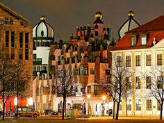 DIE GRUENE ZITADELLE VON MAGDEBURG © www.AndreasLander.de Old Houses, Germany, Winter, Green, Photos, Magdeburg, Ruins, Tourism, Tours