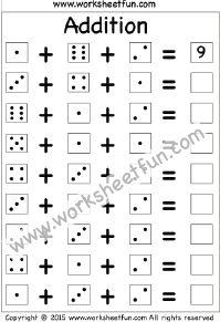 Adding 3 Numbers – 1 Worksheet