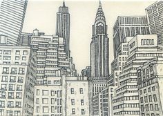New York City Sketch 3 by sketchmodern on Etsy
