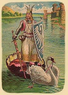 Lohengrin is a character in German Arthurian literature. The son of Parzival (Percival), he is a knight of the Holy Grail sent in a boat pul...