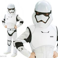 Deluxe Stormtrooper Boys Fancy Dress Star Wars Force Awakens Kids Teen Costume £19.95