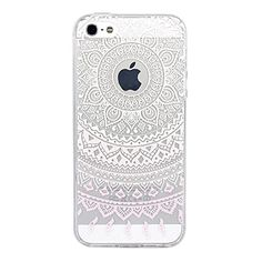 63ab6f387bf Amazon.com: iPhone SE Case, JAHOLAN Beautiful Clear TPU Soft Case Rubber  Silicone Skin Cover for iPhone 5/5S/SE - Light Pink and White Dream  Catcher: Cell ...