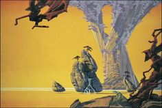 The Roger Dean Gallery is the online home of iconic album cover artist Roger Dean. Browse the galleries, shop fine art prints, original paintings and sketches, or keep up to date with Roger's events and exhibitions in Magritte, Roger Dean, Dragon Dreaming, Environment Concept Art, Environment Design, English Artists, Sci Fi Art, Album Covers, Fantasy Art