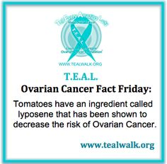 #OCFactFriday #TEAL Ovarian Cancer Awareness, Cancer Facts, Cancer Support, Girls Rules, Everyone Knows, Healthy Mind, Pcos, Good To Know, Breast
