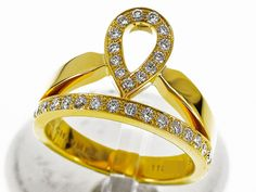 CHAUMET josephine ring Diamond 750 K18 YG Yellow gold USsize 8 29490602 #CHAUMET #AnneauCoeurHeartDiamondsRing