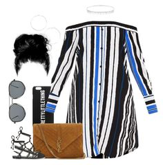 Untitled #1026 by cjasmyne on Polyvore featuring polyvore fashion style Temperley London Yves Saint Laurent Suzanne Kalan clothing