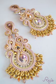 ETSY SHOP: https://www.etsy.com/shop/Rejesoutache?ref=hdr_shop_menu Soutache embroidery earrings Handmade In Italy by Reje www.rejesoutache.com https://www.facebook.com/rejegioielliinsoutache