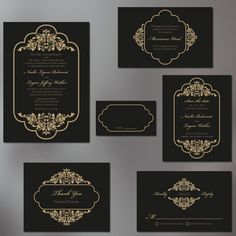 Timeless and Elegant Wedding Invitation Suite