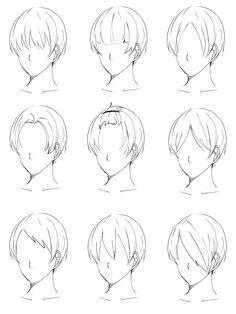 Drawing Hair Tutorial, Manga Drawing Tutorials, Art Tutorials, Drawing Male Hair, Guy Drawing, Drawing Tips, Anime Hair Drawing, Mouth Drawing, Anime Boy Hair