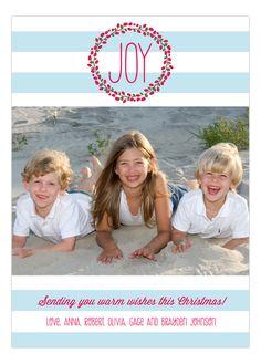Prints Charming Digital Designs Joyful Blue Stripes Photo Card