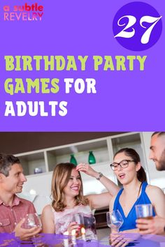 Birthday party games for adults are mood booster and make the birthday more exciting. If you want to add some silliness to your birthday party, then these birthday party games for adults are for you. They're hilarious and fun and will have everyone laughing out loud! Check out this pin for interesting ideas on how to make your birthday unforgettable! #birthdayparty #adultgames #birthdaygames #birthday #fungames #partygames 27th Birthday, Birthday Songs, Adult Birthday Party, Birthday Party Games, It's Your Birthday, Adult Party Games, Adult Games, Fun Games, Funny Would You Rather