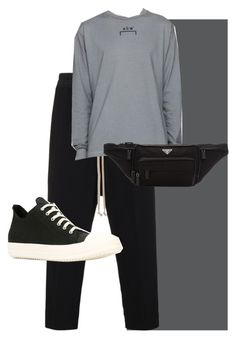 """Pai-Han Business Wear 2"" by theogm on Polyvore featuring Rick Owens, A-Cold-Wall*, Prada, DRKSHDW, men's fashion and menswear"