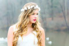 flower hair bridal flower crown wedding by serenitycrystal on Etsy, $38.00