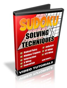 How To Solve Sudoku Puzzles - Sudoku Video Tutorials - Sudoku Solving Techniques! These Sudoku Video Tutorials are the Most Complete Sudoku Solving Techniques you Will Find-Period!   *This Also Makes A Perfect Gift For That Teen That Thinks You Are 'Old And Out Of Touch'! Blow Their Mind With This And Always Be Their Favorite From Here On!
