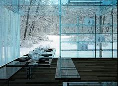 by Italian design team Santambrogiomilano, which comes with a set of furniture made entirely from glass.