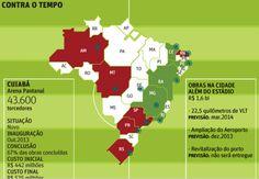 As sedes da Copa das Confederações