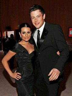 Cory Monteith and Lea Michele when they weren't a couple yet