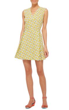 Floral Printed Cotton Mini Dress by SUNO Now Available on Moda Operandi