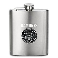 Ramones Seal Greatest Hits Album Hip Flask Portable Stainless Steel Flagon Wine Bottle >>> More info could be found at the image url. (This is an affiliate link) #LiquorWineFlasks