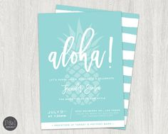 Aloha Luau Bridal Shower  Pineapple Bridal by paperandinkdesignco