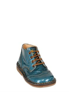 OCRA - PATENT LEATHER LACE UP SHOES - LUISAVIAROMA - LUXURY SHOPPING WORLDWIDE SHIPPING - FLORENCE