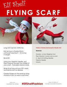 Elf Shelf Flying Scarf – Free Pattern