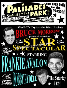 "On top of the New Jersey bluffs overlooking Manhattan, New York, Palisades Park was the place to be to see ""Cousin Brucey"" Bruce Morrow host his rock and roll Star Spectaculars.  Available at mygenerationshop.com"