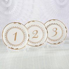HANDMADE WEDDING TABLE NUMBERS 1-6 FREE STANDING