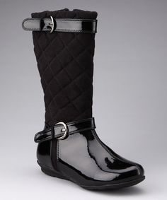 8a65123a4d0f Take a look at this Black Feliza Boot by Yokids on  zulily today! I