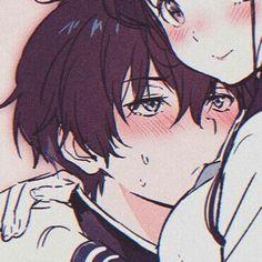 Couple Amour Anime, Couple Anime Manga, Anime Couples Drawings, Anime Love Couple, Anime Couples Manga, Anime Couples Hugging, Cute Anime Profile Pictures, Matching Profile Pictures, Cute Anime Pics