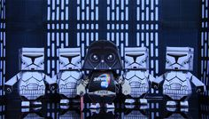 darth fater and stormtroopers
