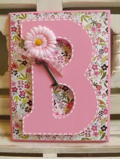 LARGE WALL LETTER Monogram Initials Custom Name Personalized Girls Room Floral Pink
