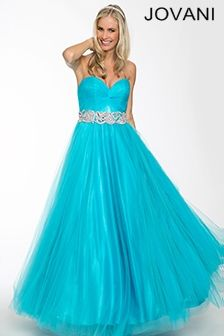 Jovani #90402 Ballgown is simple but beautiful.