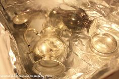 how to shine silver with no scrub - line sink with foil, add one cup baking soda and fill with hot water. soak for 30 min or until clean!