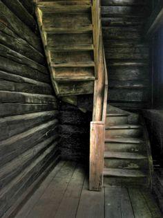 Staircase (trapp) at Eidsvoll bygdetun, Akershus