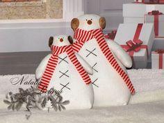Tilda Schneemann. Set von 2. Weihnachten. von LightDolls auf DaWanda.com