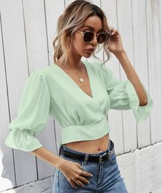 14 Easter Blouses You'll Keep Wearing After The Holiday Pastel Pink, Pink Purple, Lilac, Black White Pink, Neck Wrap, Tie Backs, Black Crop Tops, V Neck, Bell Sleeve Top
