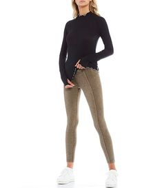 FP Movement Hybrid Exposed Seam Detail High Rise Leggings #Sponsored #Hybrid, #AD, #Exposed, #FP Korean Fashion Casual, Dillards, Free People, Sweatpants, Leggings, Detail, Cotton, Clothes, Shopping