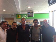Rafa Nadal 26 September   Embarcando con Ricardo y mi equipo hacia #Seul para ver a mis amigos de #KIA. Boarding with Ricardo and my team to #Seul to see my #KIA friends.