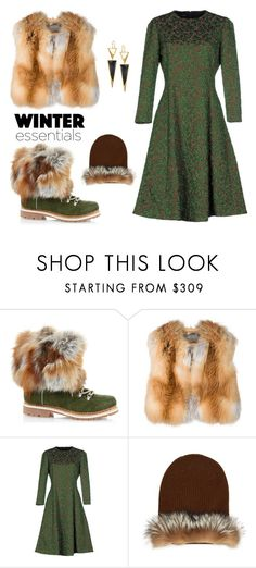 """Winter Essentials: Vest + Boots + Beanie"" by leiastyle on Polyvore featuring Alberta Ferretti, Rochas, MaxMara and Lana"
