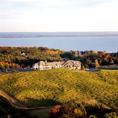 Chateau Chantal Winery & Tasting Room - Traverse City MI.  Located on the Old Mission Peninsula in the middle of Grand Traverse Bay.  Stunning views from this location, good weather or bad.  And the wine is some of the best in Michigan, too.