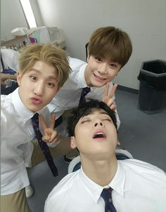 Jinjin, Moonbinie and Eunwoo